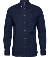 daniel bd-stretch denim overhemd casual blauw j. lindeberg