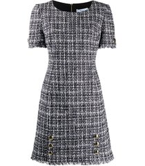 blumarine tweed shift dress - black