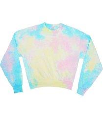 essential crewneck sweatshirt, pastel tie dye