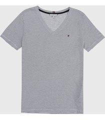 camiseta blanco-azul oscuro tommy hilfiger