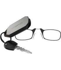 thinoptics gafas para leer con llavero marco negro