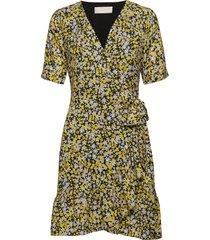 high pressure korte jurk geel fall winter spring summer
