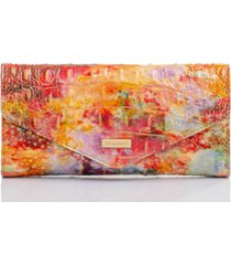 brahmin veronica melbourne leather envelope wallet