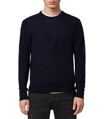 men's allsaints mode slim fit merino wool sweater, size large - blue