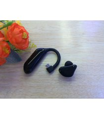 audífonos bluetooth deportivos, x6 moda elegante doble batería deportiva oído gancho auricular inalámbrico audifonos bluetooth manos libres  (negro)