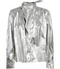 isabel marant metallic coated sports jacket