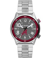 columbia men's outbacker alabama stainless steel bracelet watch 45mm