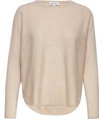 curved sweater gebreide trui beige davida cashmere