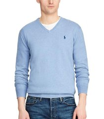 sweater slim fit cotton vneck celeste polo ralph lauren