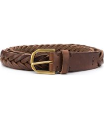 ajmone woven belt - brown