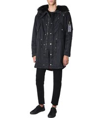 versace jeans couture hooded parka