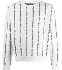 enfants riches déprimés loose-fit logo-print sweatshirt - white