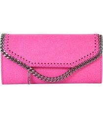 stella mccartney designer wallets, fuchsia flap top falabella wallet