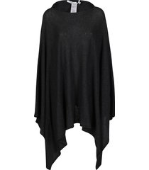 agnona grey cashmere cape