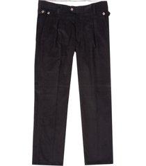 jj emlyn thomas needle corduroy trousers - black