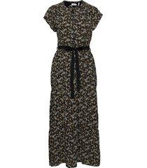 dress short sleeve maxiklänning festklänning svart noa noa