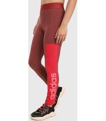 leggings vinotinto-rojo adidas performance essentials colorblock