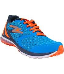 tenis azul naranja adrun air flex