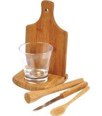kit caipirinha 6 peças em bambu ibiza welf