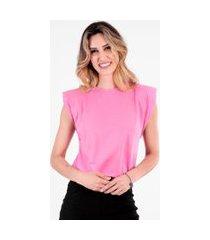 t-shirt bl0001 muscle tee com ombreira traymon rosa