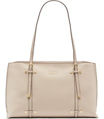 dkny bo leather satchel