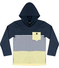 camiseta com capuz ser garoto azul - azul marinho - menino - algodã£o - dafiti