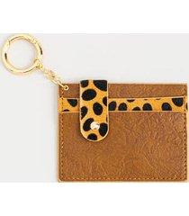 charlotte animal print card wallet - brown