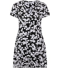 calvin klein jeans peony print mini dress - black