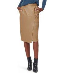 women's equipment khloelle faux leather skirt, size 0 - orange