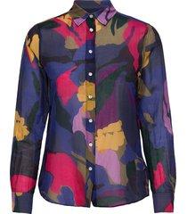 d1. splendid floral cot silk shirt overhemd met lange mouwen multi/patroon gant