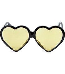 novelty 62mm heart sunglasses