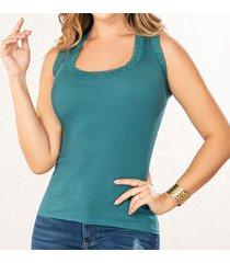 blusa hadid verde para mujer croydon