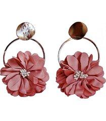 aros argollas flor rosa malva viva felicia