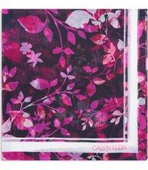 calvin klein floral-print scarf