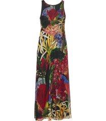 vest alive maxi dress galajurk multi/patroon desigual