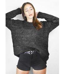 sweater gris a lo juana eva