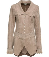 giacca in similpelle scamosciata (marrone) - bodyflirt boutique