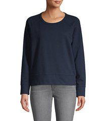 roundneck cotton sweatshirt