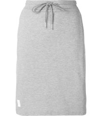 thom browne rwb stripe piqué skirt - grey
