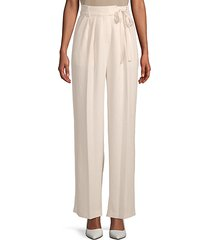 crepe wide-leg pants