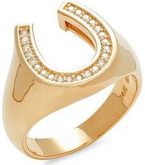 effy men's 14k yellow gold & 0.23 tcw diamond ring - size 10