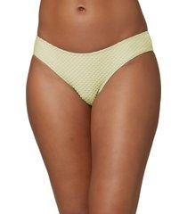 women's o'neill matira saltwater textured bikini bottoms, size small - green