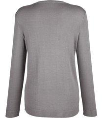 tröja med paljetter laura kent grå