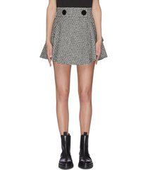 houndstooth check plaid tweed skirt