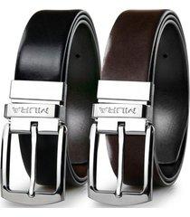 cinturón reversible cuero genuino ares negro miura