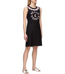 boutique moschino dress boutique moschino crepe dress with floral peace print