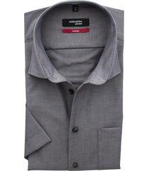 seidensticker splendesto shirt grijs korte mouw