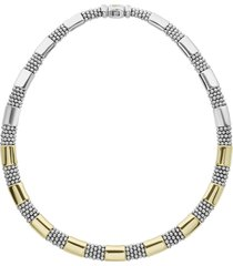 lagos signature caviar high bar rope collar necklace, size 18 in in silver/gold at nordstrom