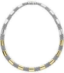 women's lagos signature caviar high bar rope collar necklace