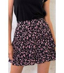 print rok laagjes roze